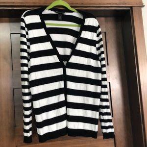 Sweaters - Black stripe check sweater